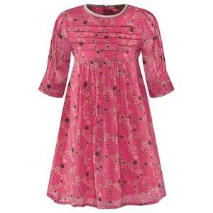 I Love Gorgeous pink star print Ann dress size 6/7
